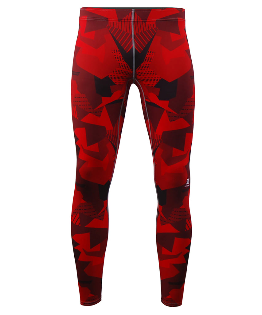 Red Pieces Full Pattern Design Tights