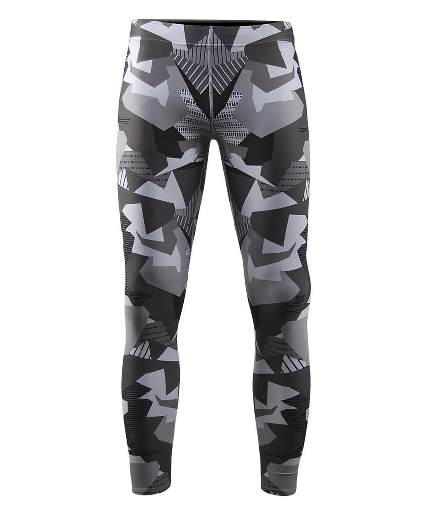 Gray Pieces Made Camo Pattern Tights