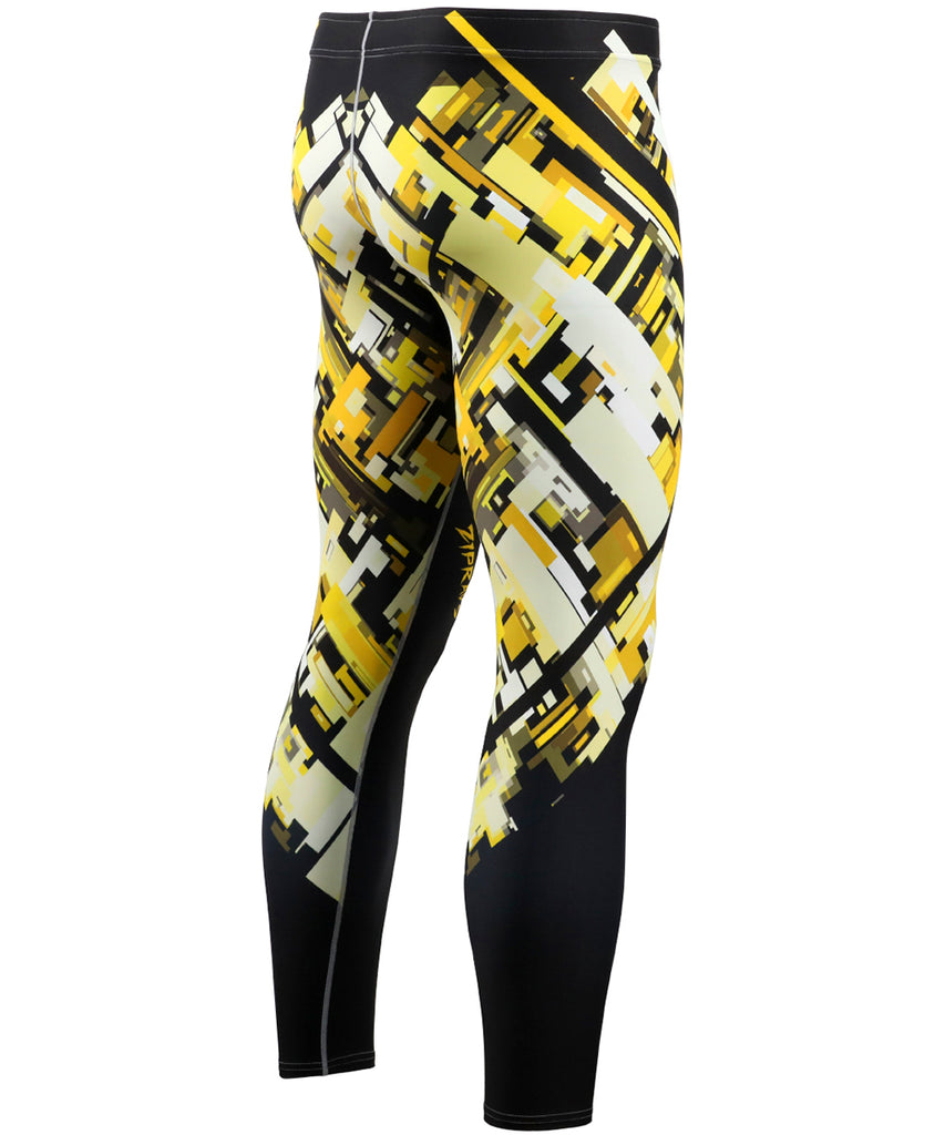 Yellow Pieces Pattern Design Tights