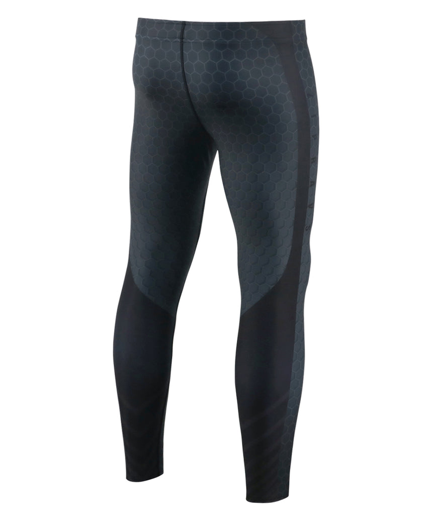 black gymwear compression leggings