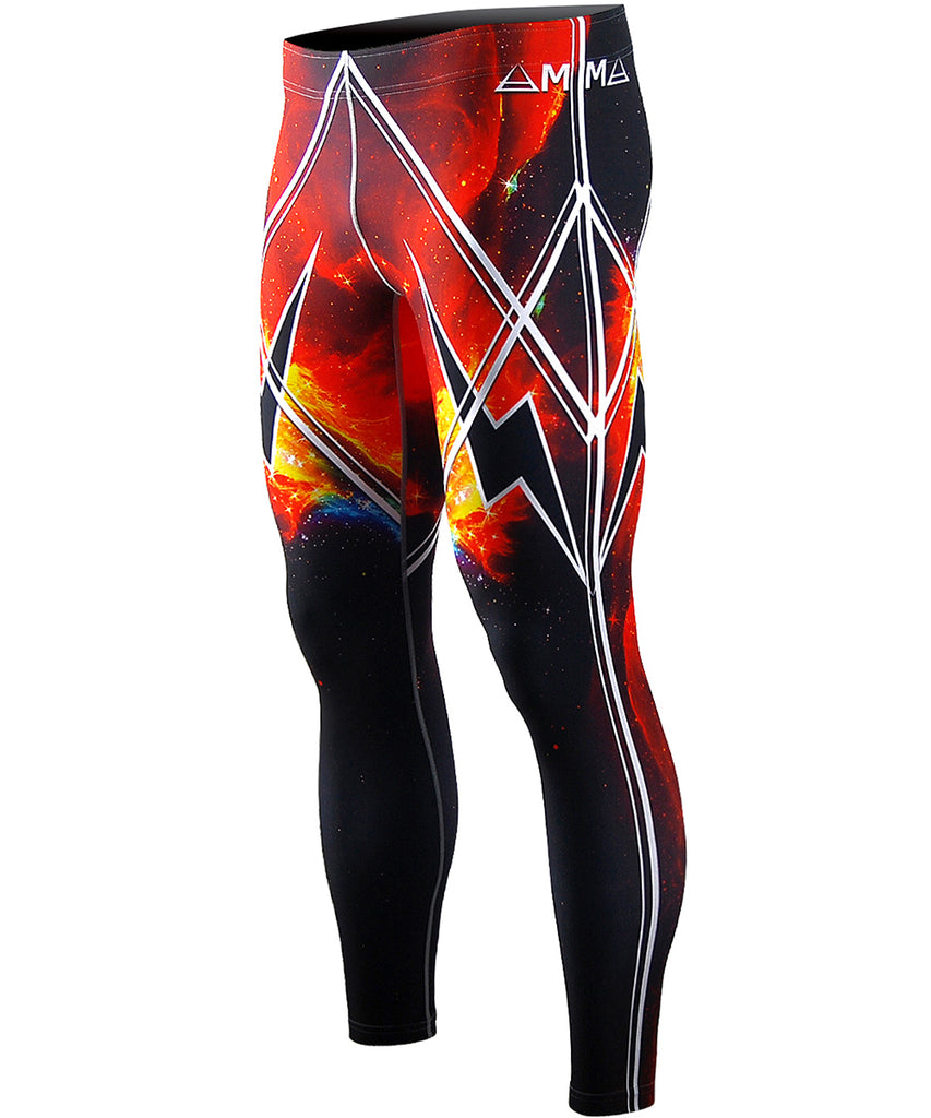 Hot Red Space Design Tights