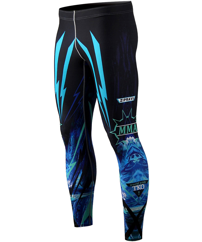 Blue Gradation color MMA Tights