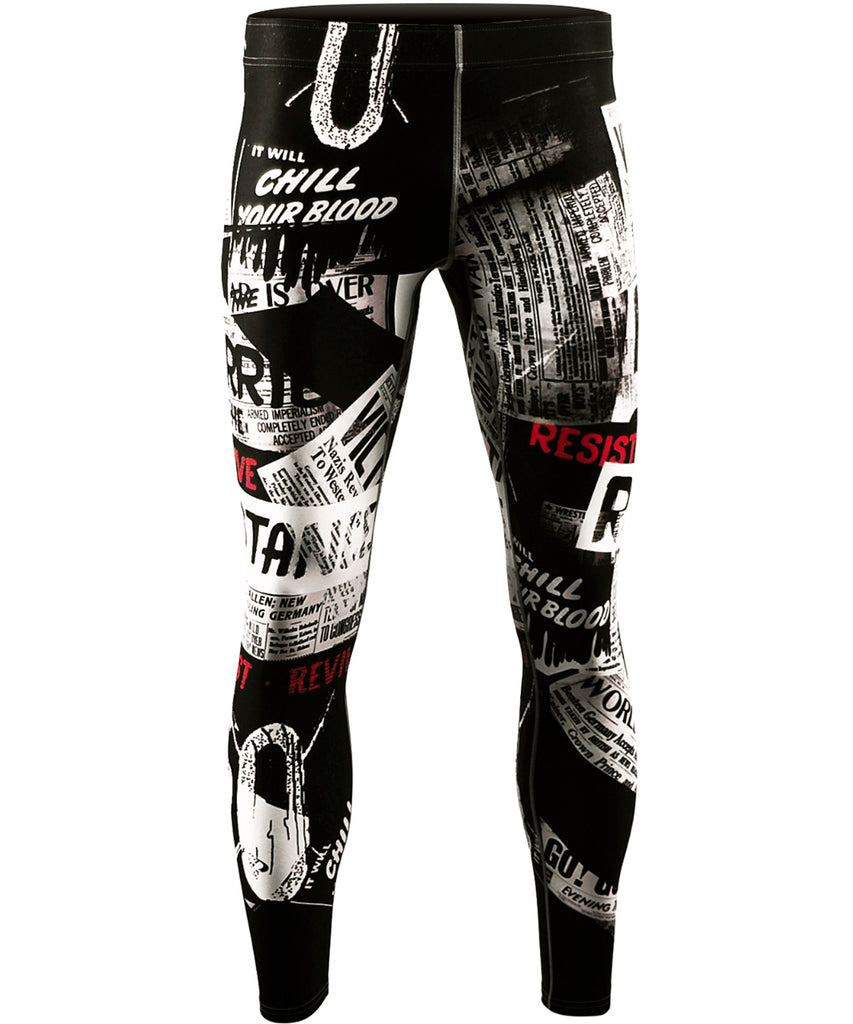 white compression athletics long pants