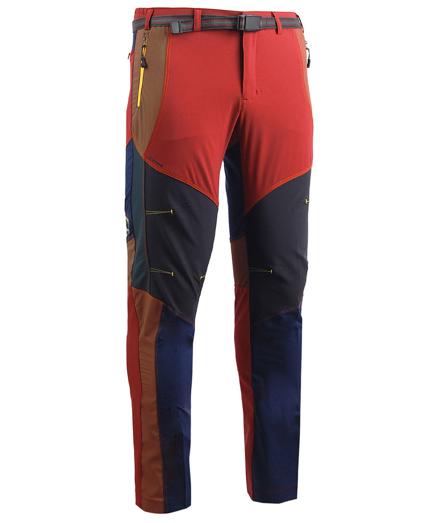 red hiking lightweight trekking trousers for men