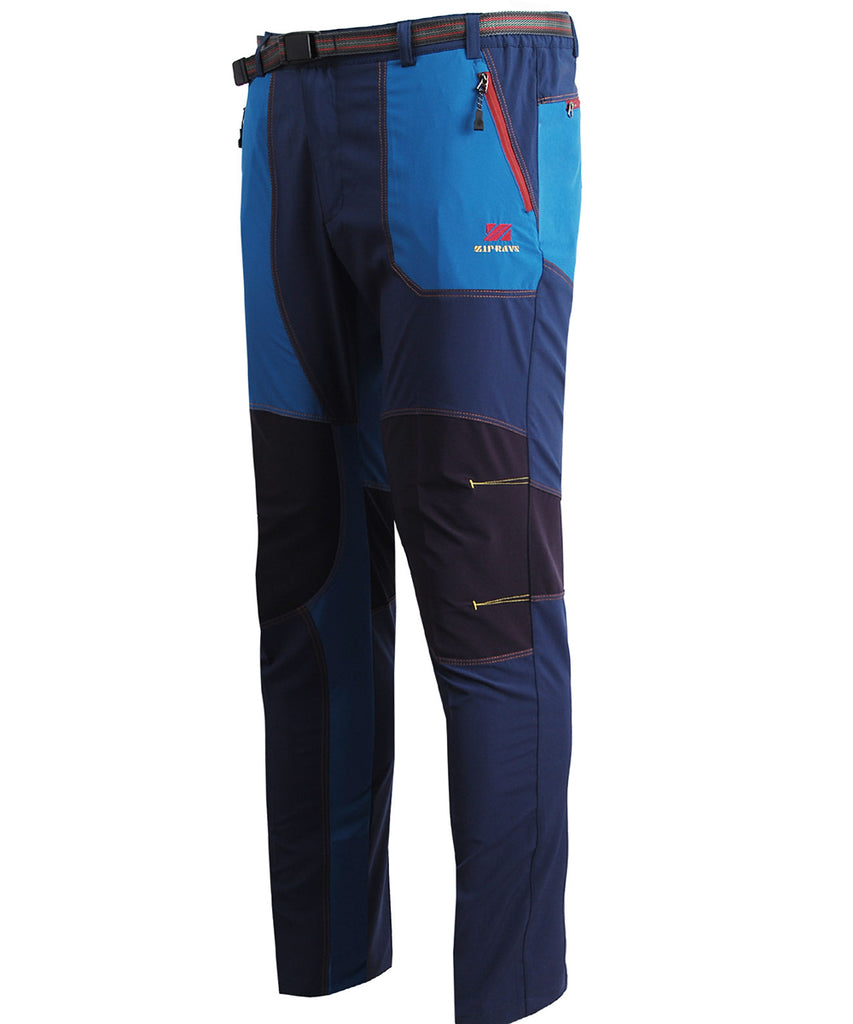 Blue hiking outdoor mountain pants