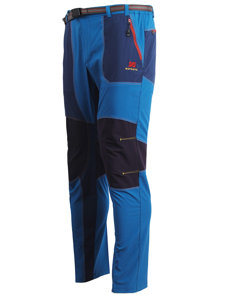 blue trekking mountain outdoor long pants
