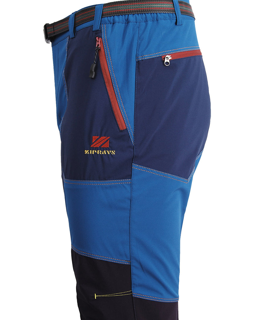 detail view / blue trekking mountain outdoor long pants