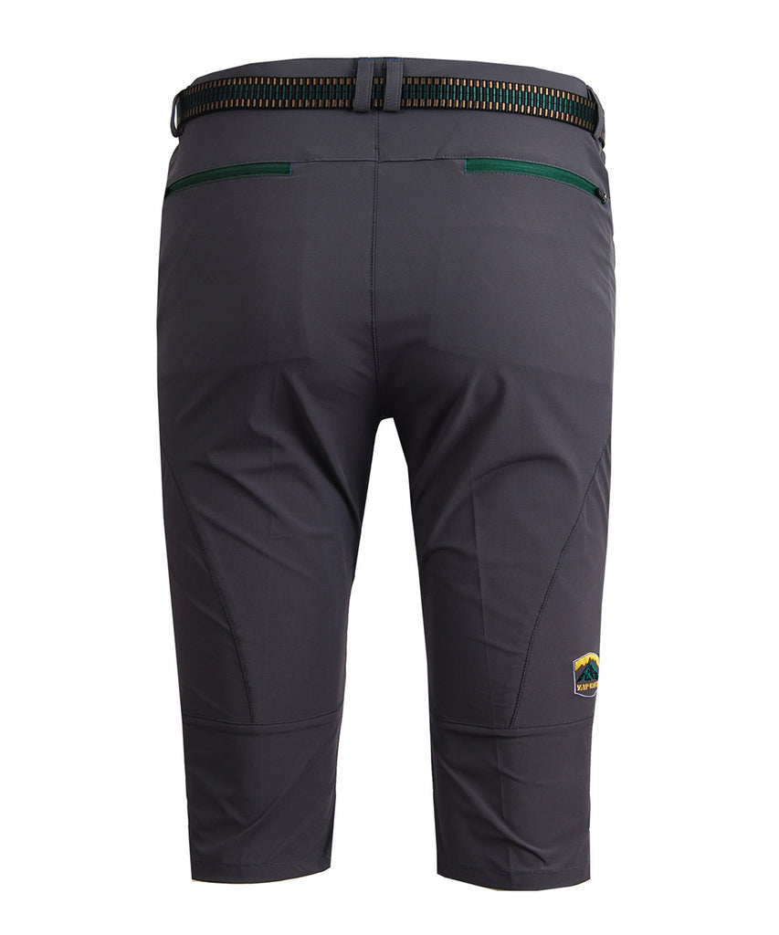 gray capri  hiking mountain pants