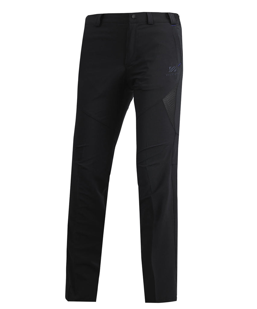 black long mountain trekking pants for men