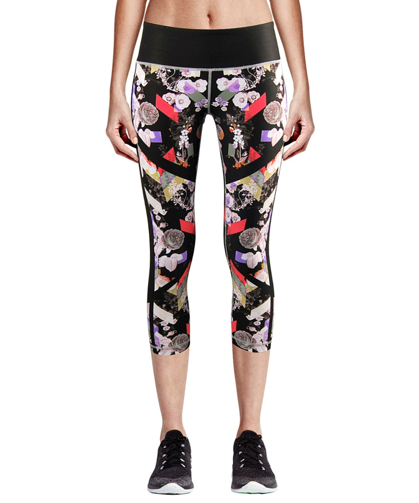 black capri leggings pants for women