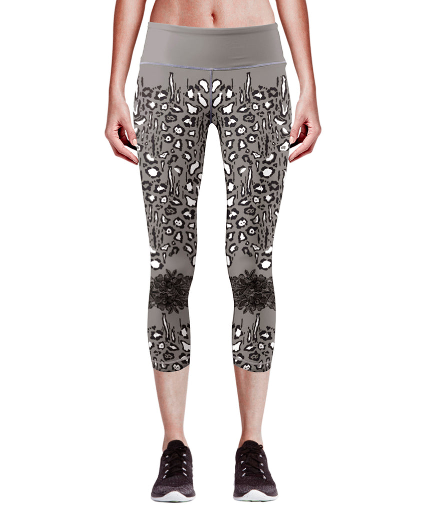 gray compression capri leggings