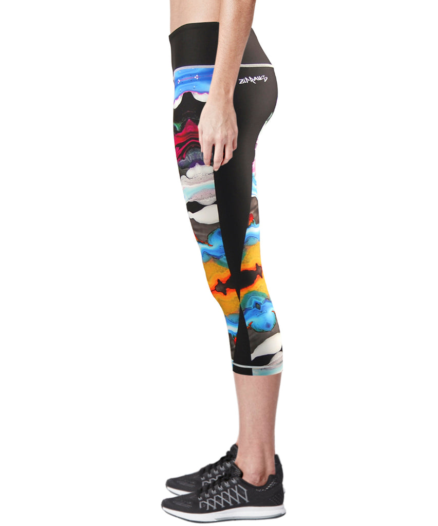 women capri yoga running leggings