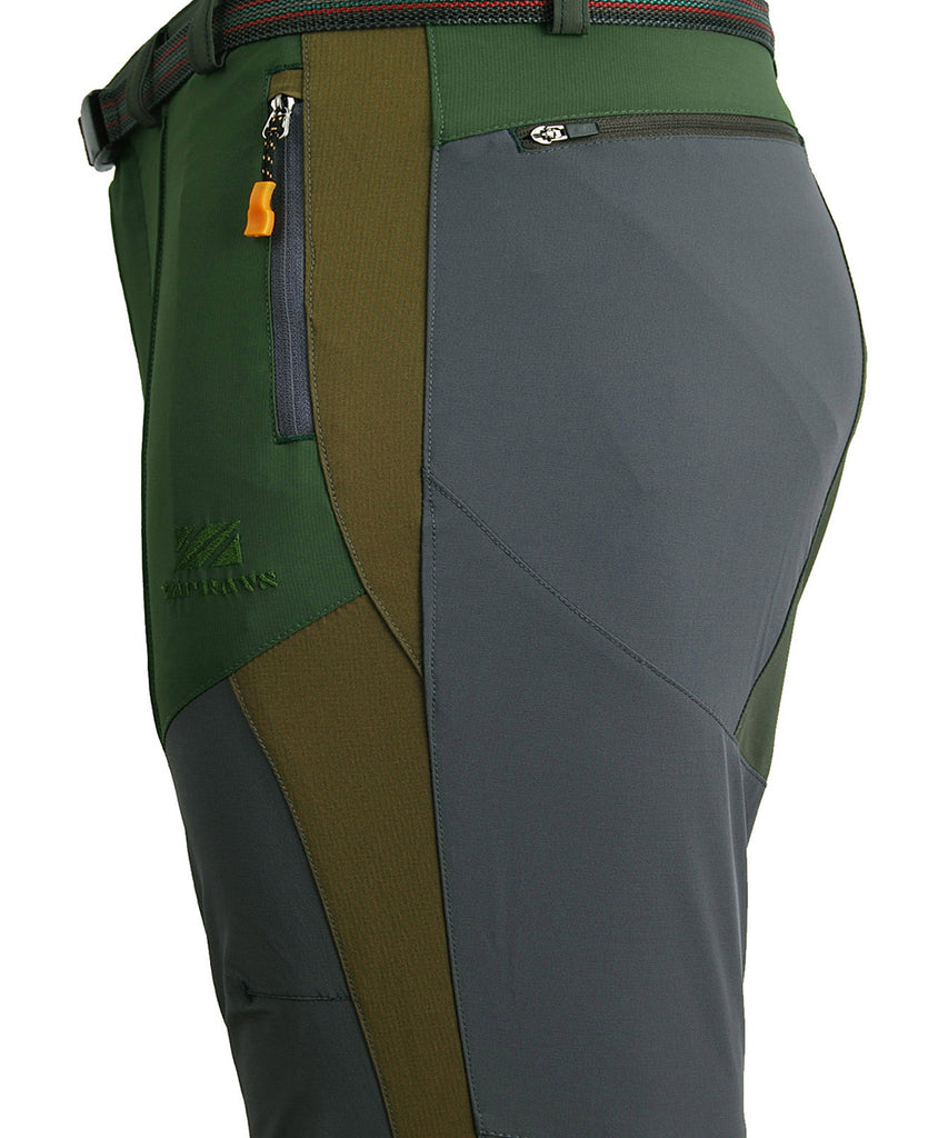 Detail view / hiking mountain pants for men