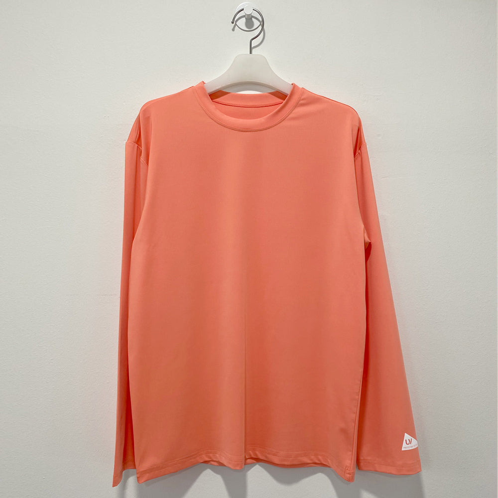Pastel orange long sleeve loosefit overfit rash guard