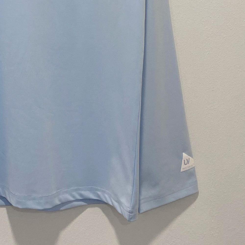 Sky blue long sleeve loosefit overfit rash guard