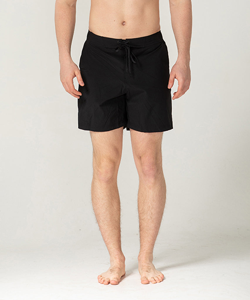 black lightweight short training pants
