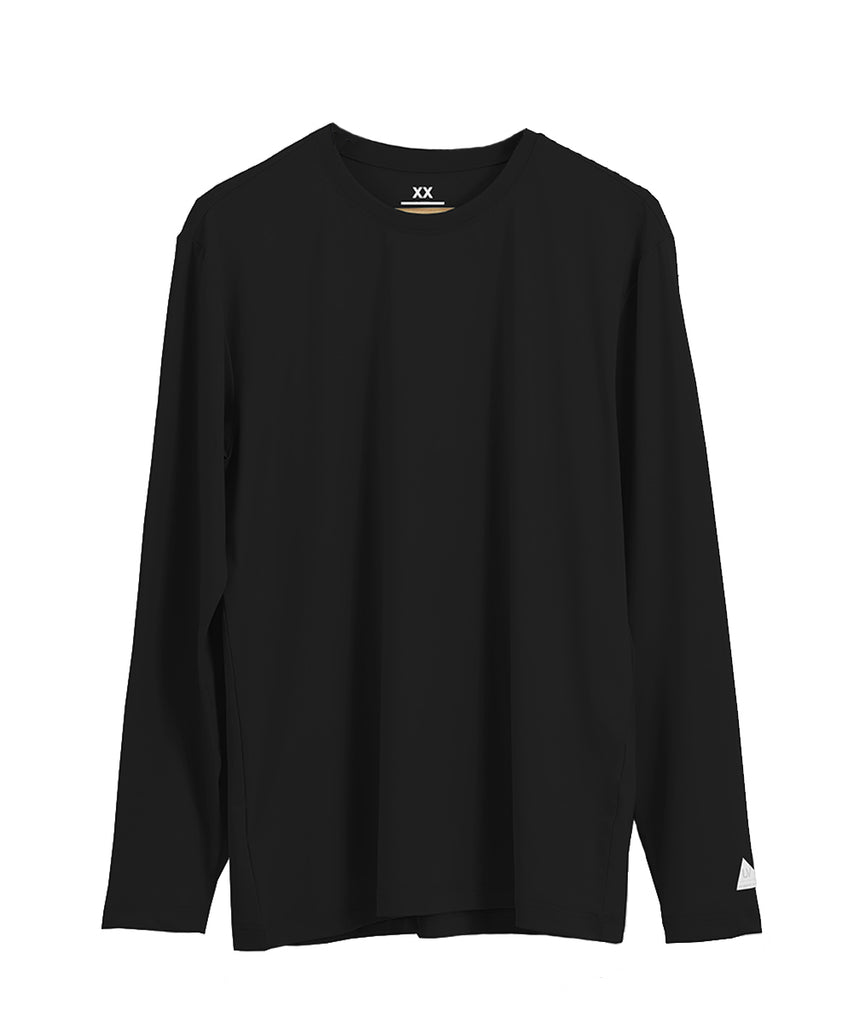 black loosefit long sleeve rashguard