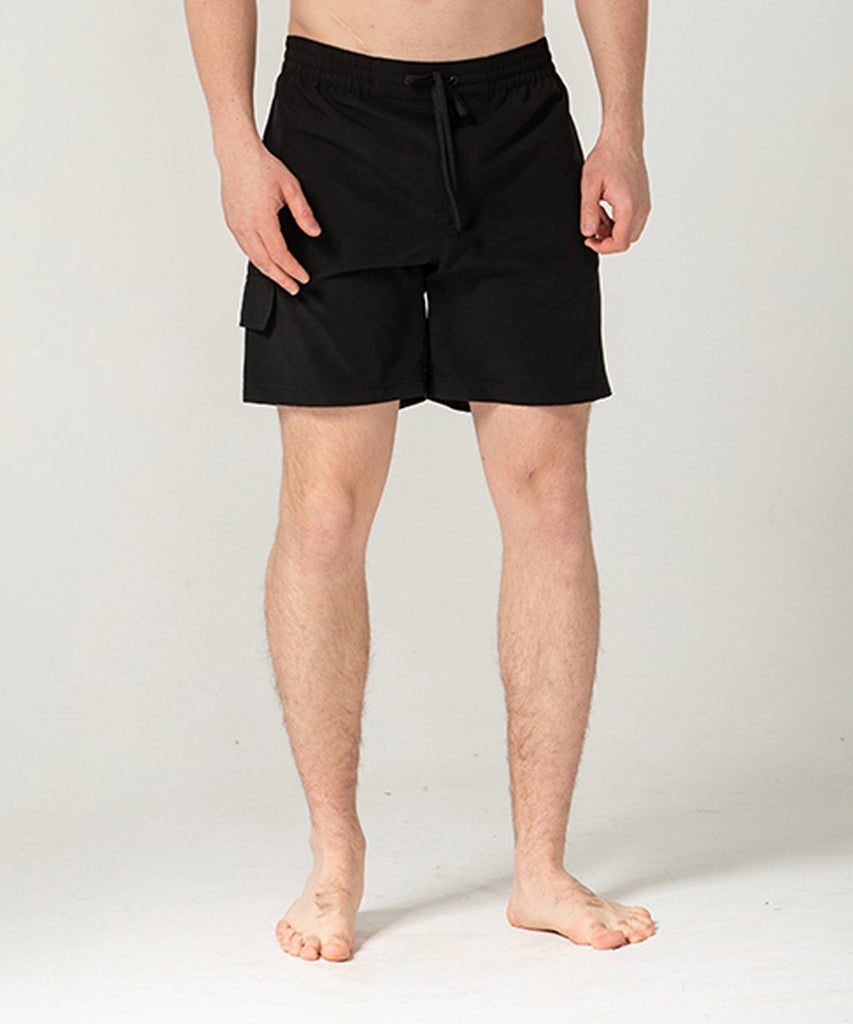 black 100% polyester short pants