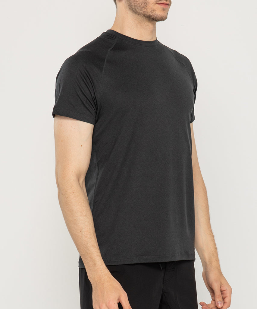 mens recycled polyester t shirt BLACK