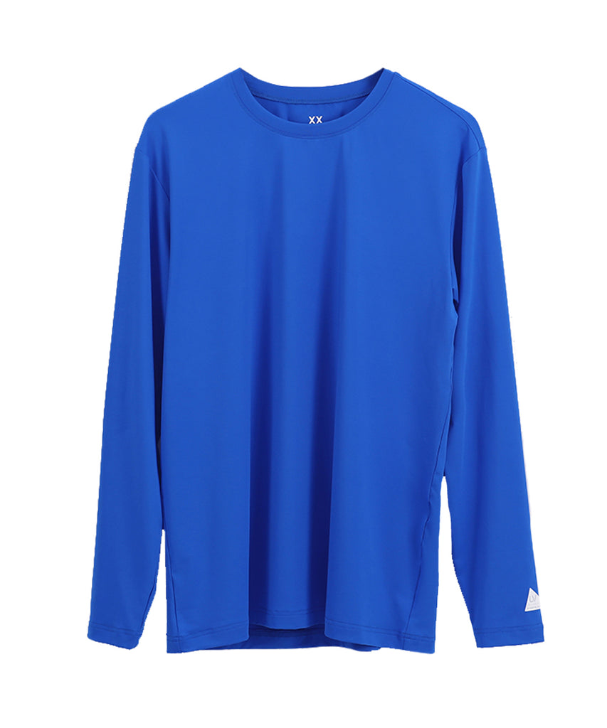blue loosefit long sleeve rashguard