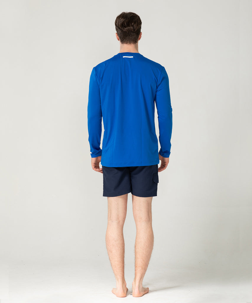 blue loosefit long sleeve rashguard&size:XXX