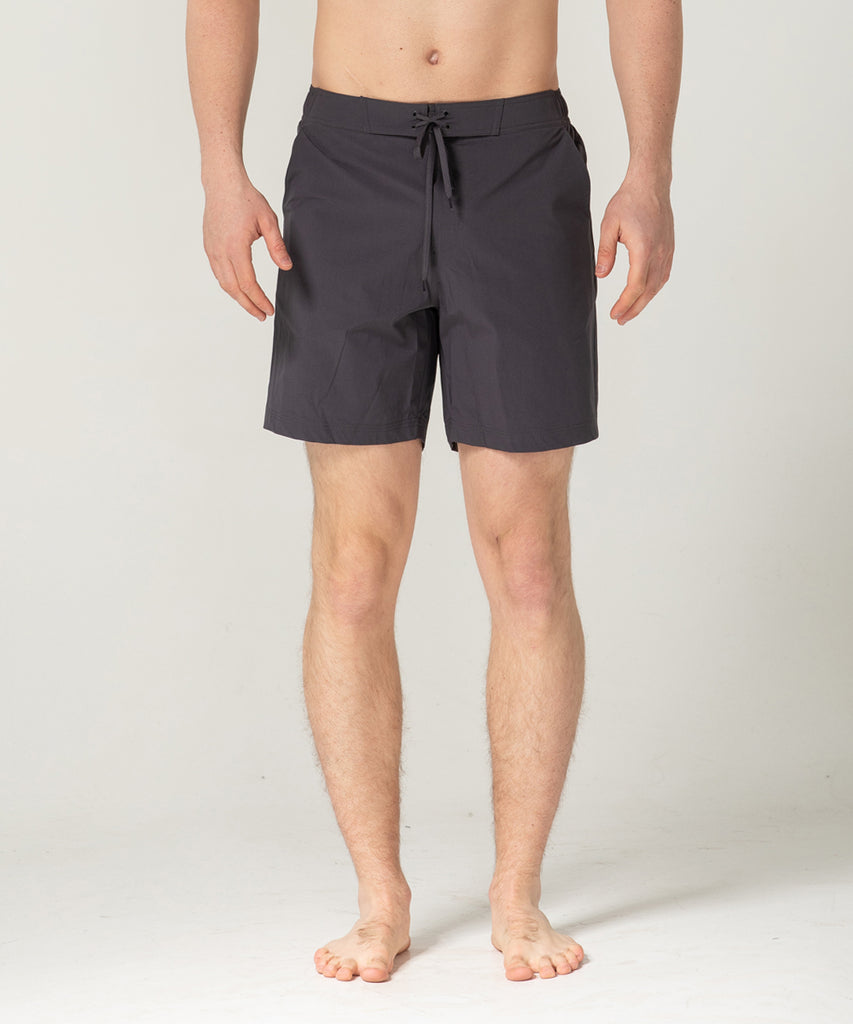 charcoal lightweight short training pants