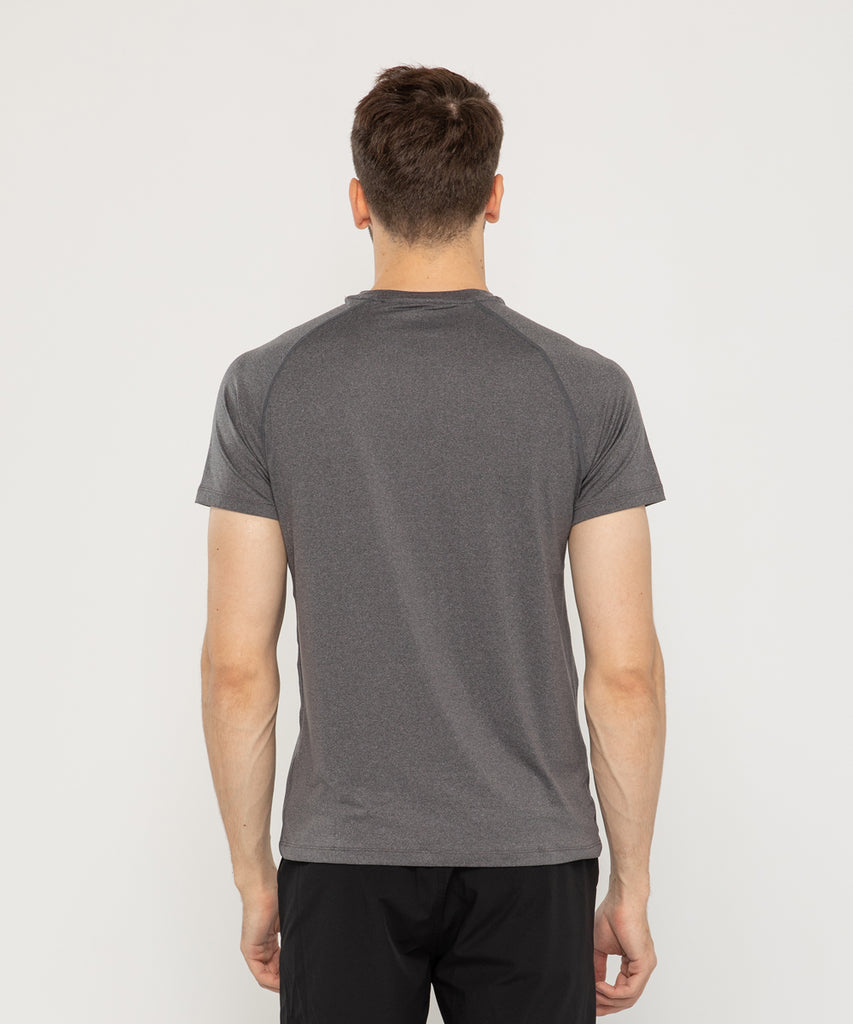 mens recycled polyester t shirt CHARCOAL