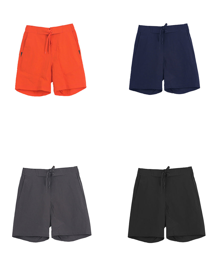 orange,navy,charcoal,black lightweight short pants