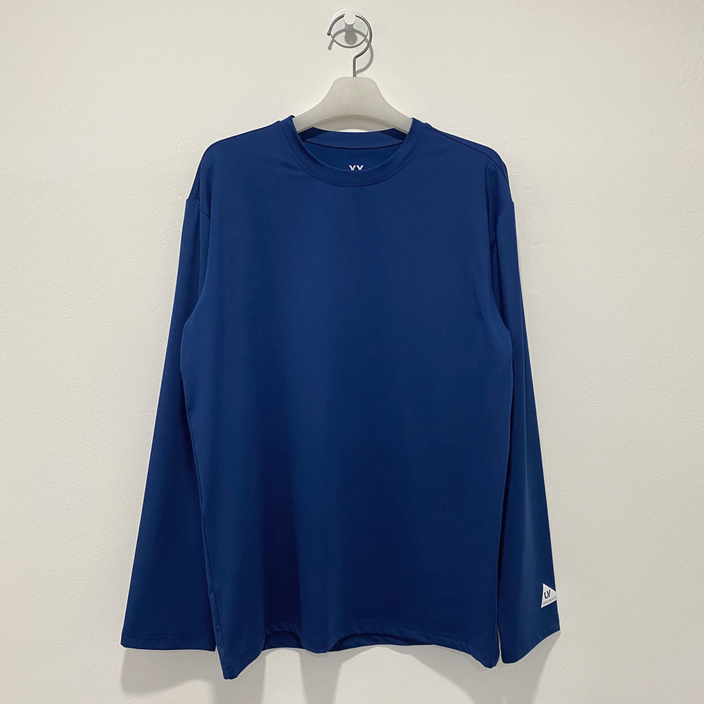 Classic blue long sleeve loosefit overfit rash guard