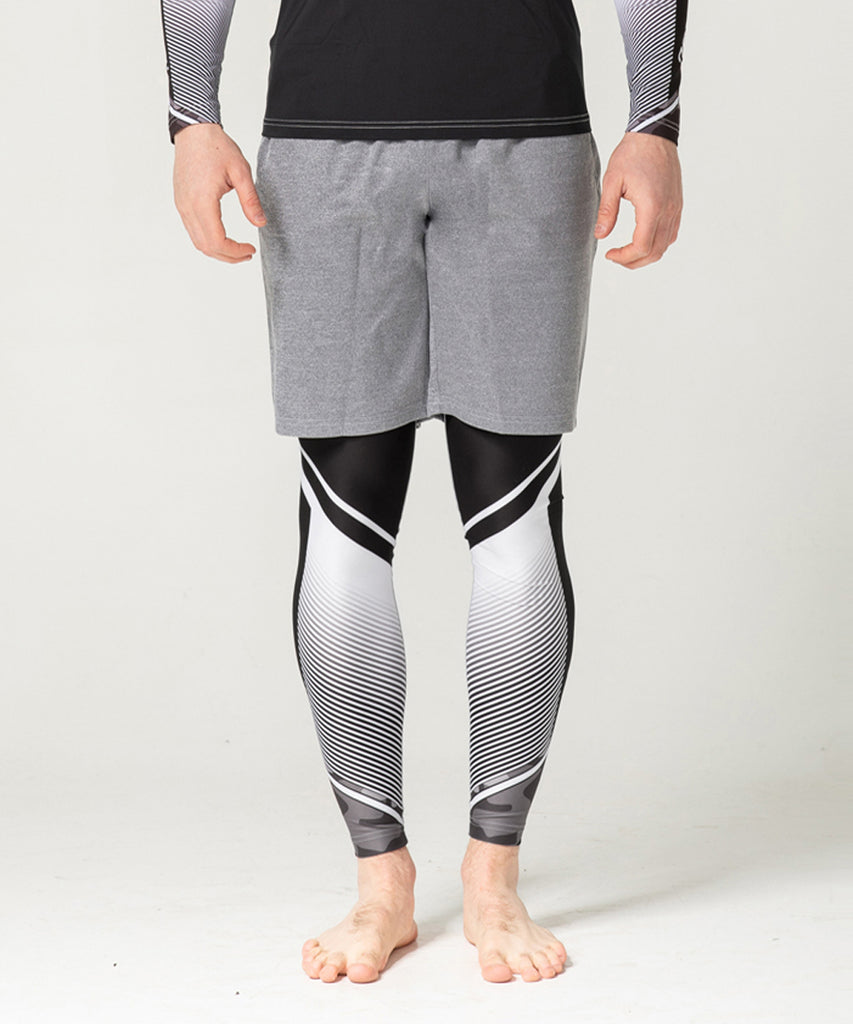 gray training short pants
