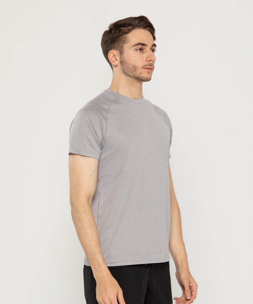 mens recycled polyester t shirt LIGHT GREY