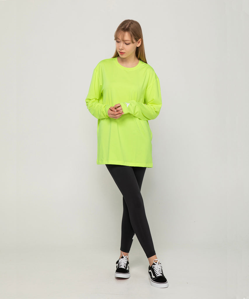 green loosefit long sleeve rashguard&size:XX