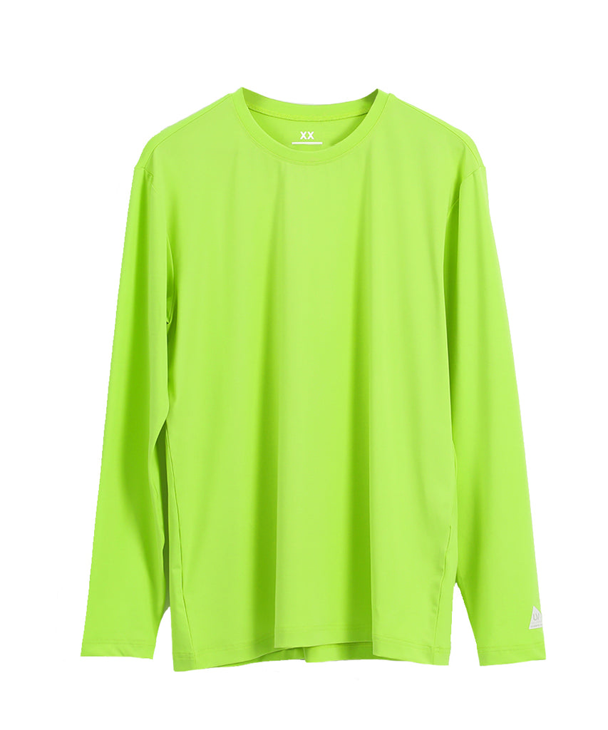 green loosefit long sleeve rashguard