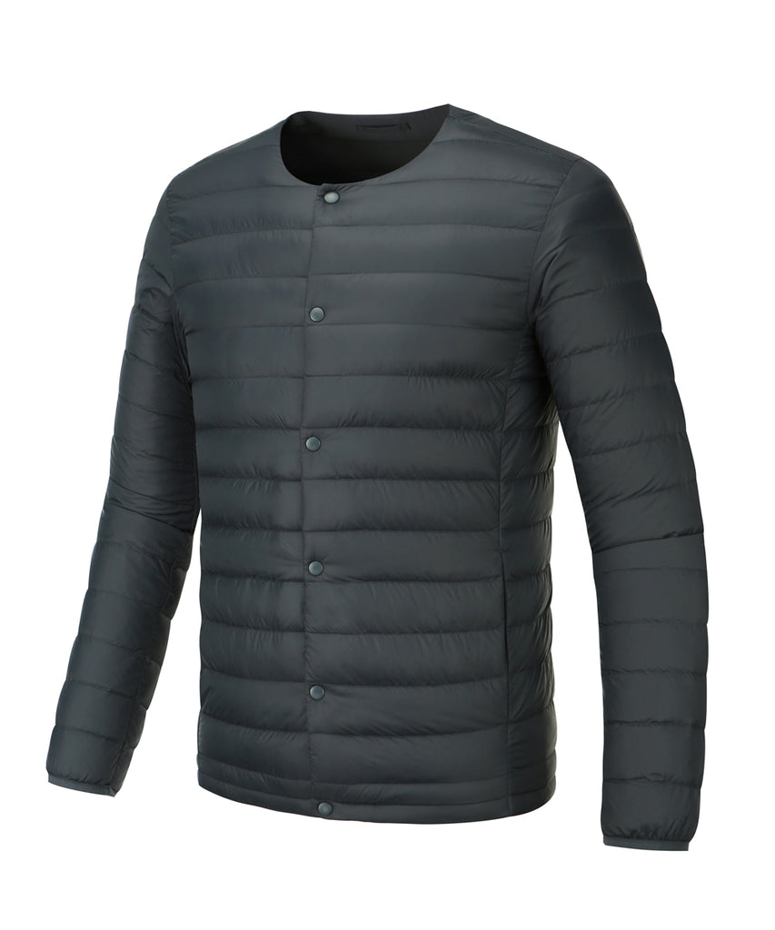 mens lightweigt down jacket dark navy