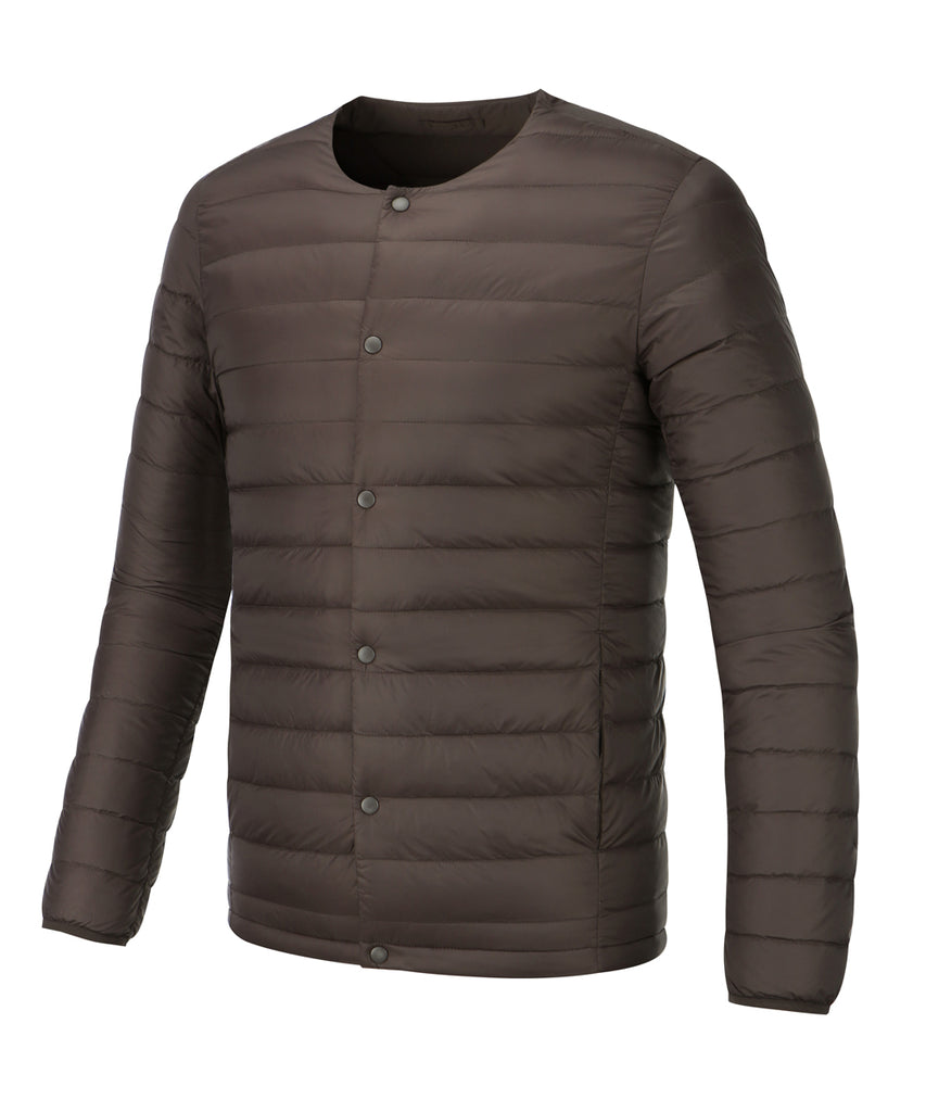 mens lightweigt down jacket dark wine