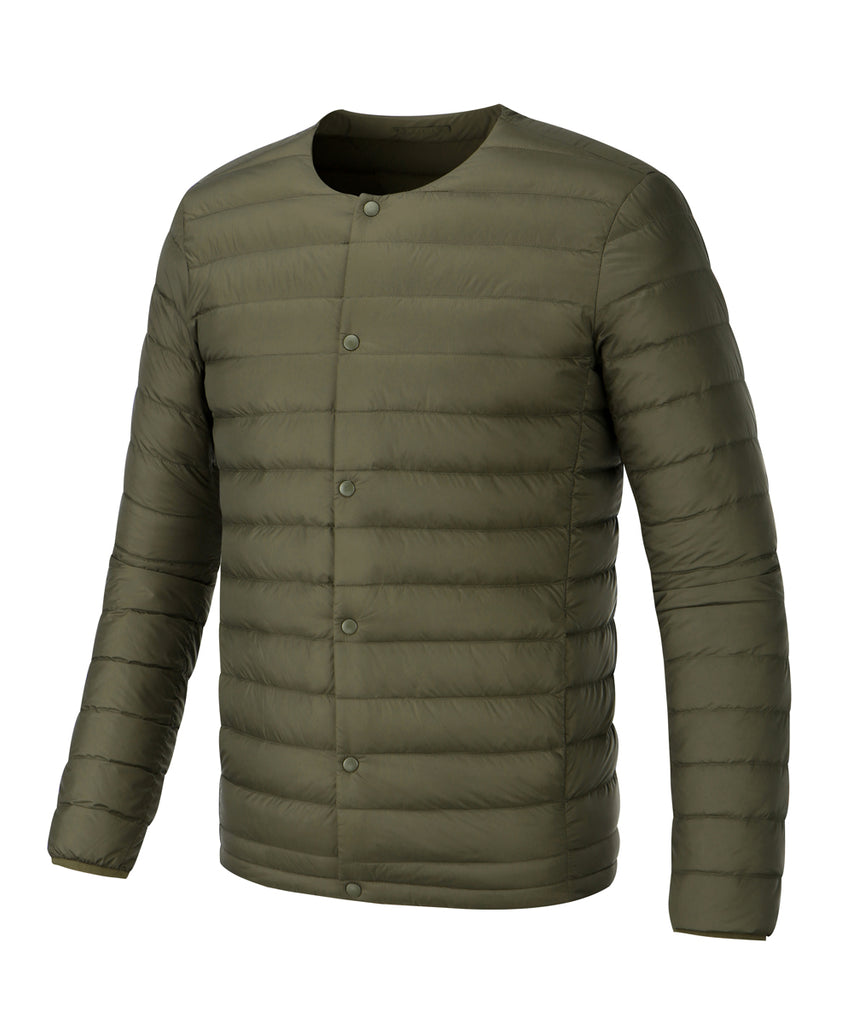 mens lightweigt down jacket khaki
