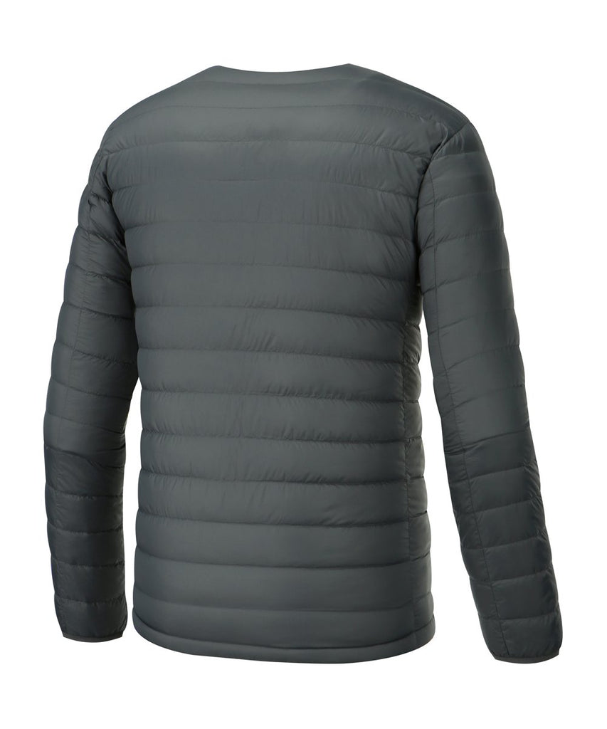 mens grey lightweight down jacket