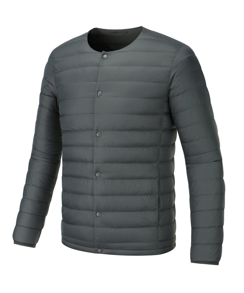 mens lightweigt down jacket slate grey