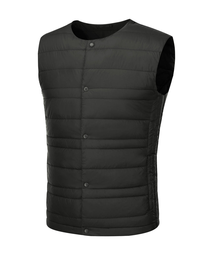 mens ultra light weight down vest black