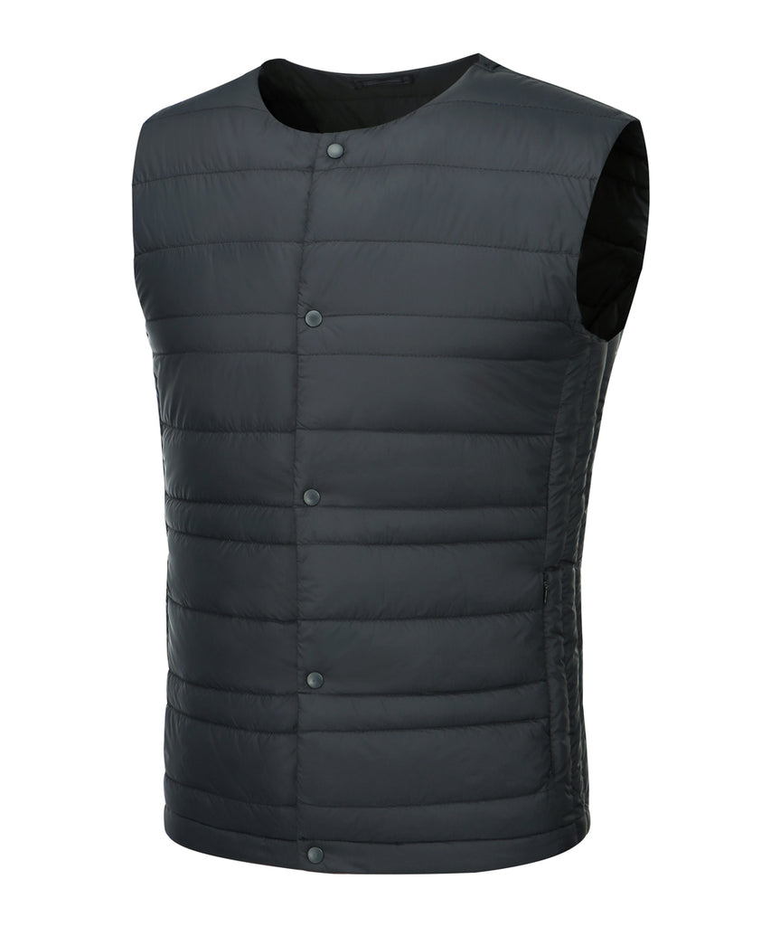 mens ultra light weight down vest dark navy