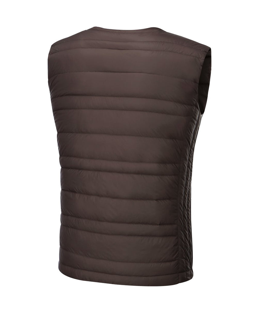 mens down vest dark wine