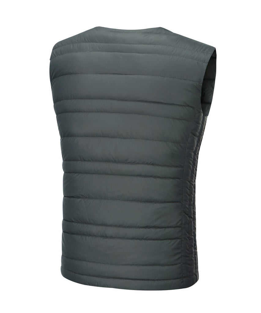 LIGHTWEIGHT DOWN VEST SLATE GREY MENS