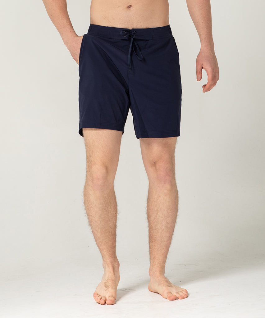 navy lightweight short training pants