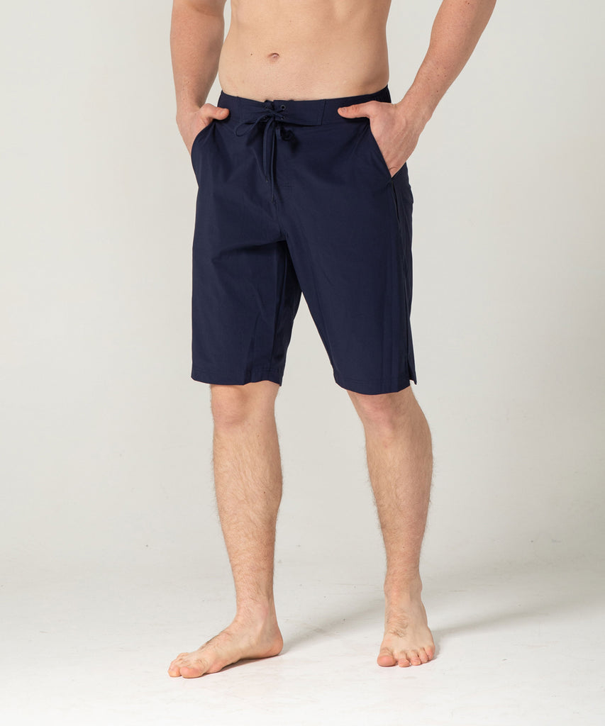 navy short pants two deep side pockets