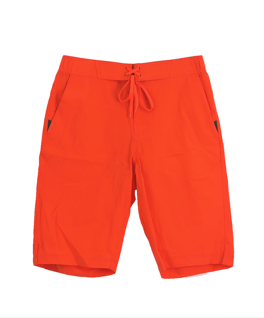orange short pants two deep side pockets