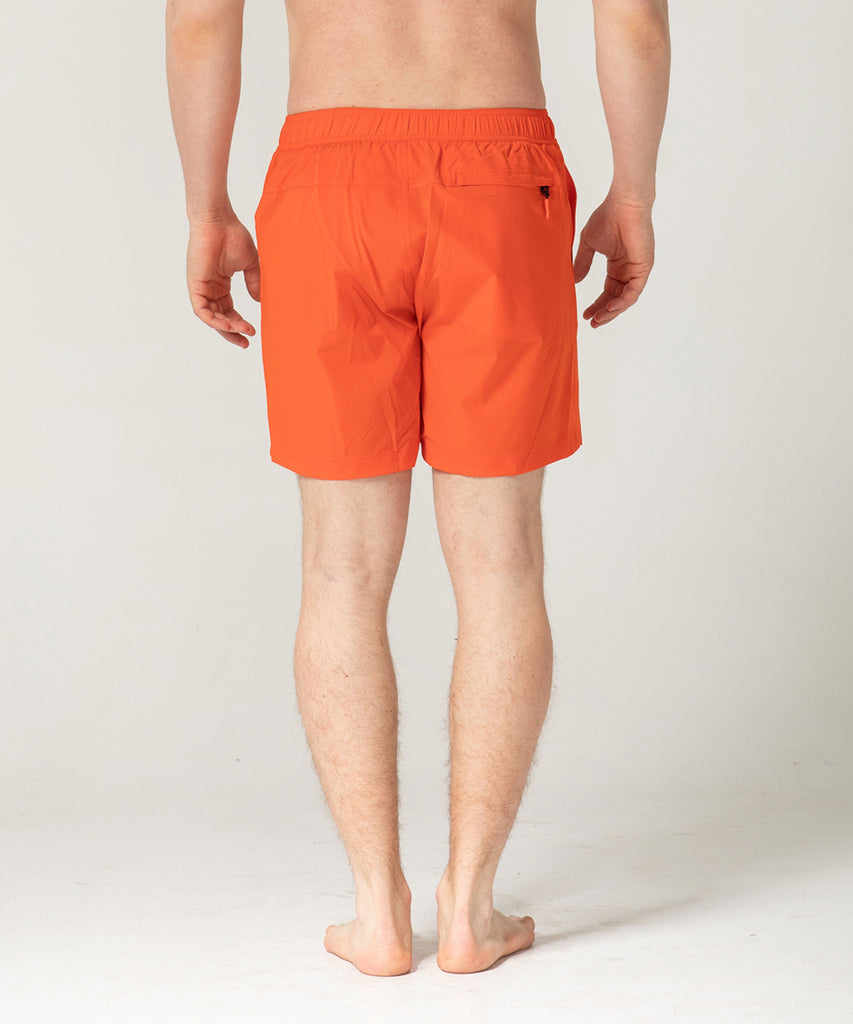 orange lightweight short training pants