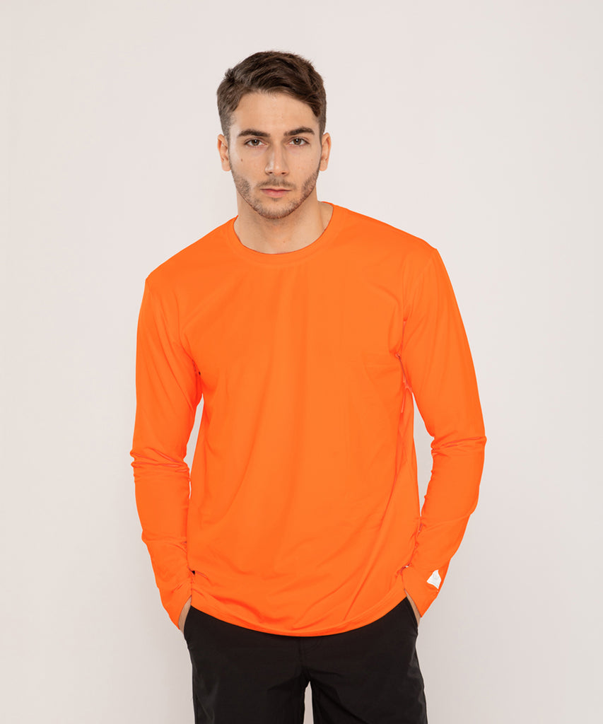 orange loosefit long sleeve rashguard&size:XXX