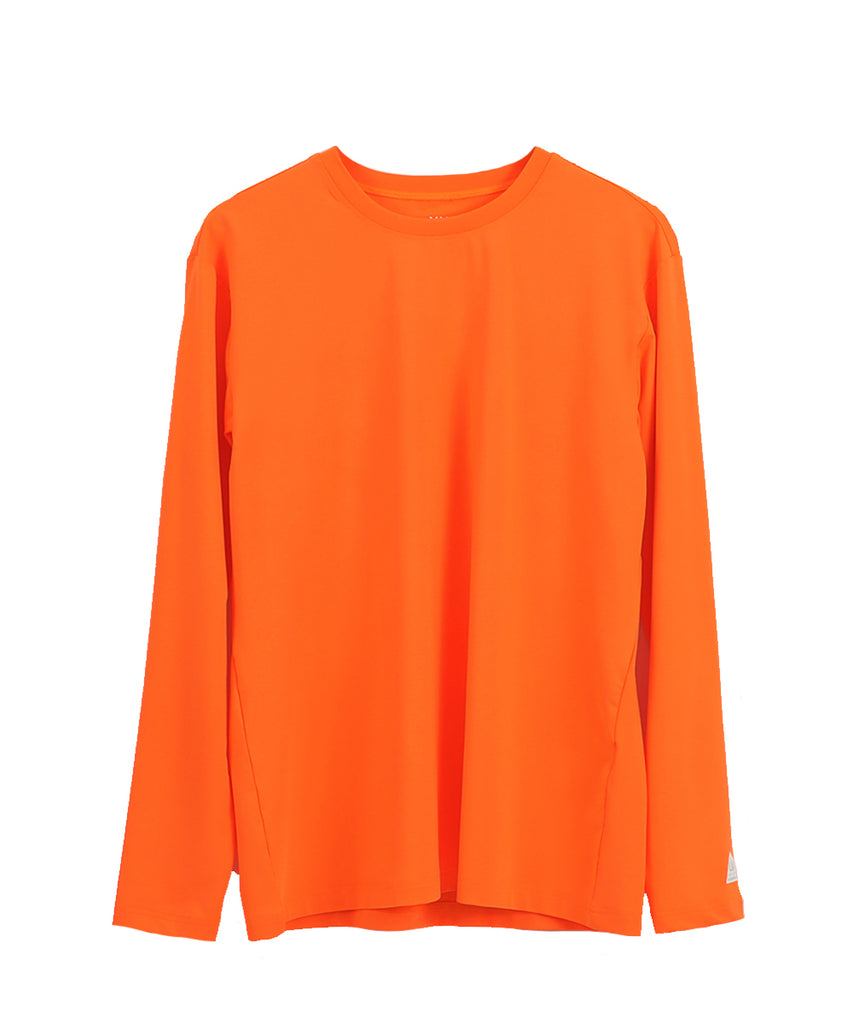 orange loosefit long sleeve rashguard