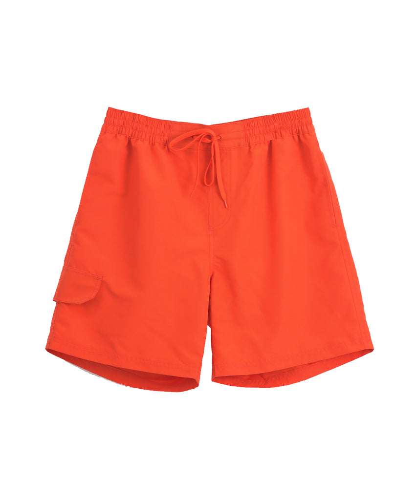 orange 100% polyester short pants
