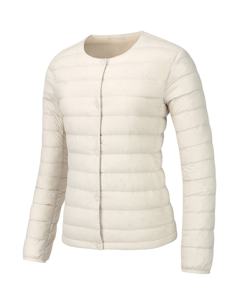 women down jacket ivory front
